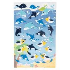 Klistremerker, Filt, Hvaler/Delfiner, 10 x 19 cm