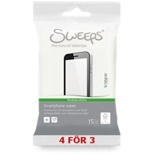 Sweeps® Smartphone wipes, 15st