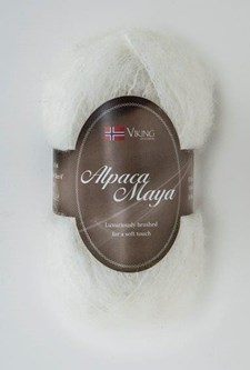 Viking of Norway Alpaca Maya 50 gr valkoinen
