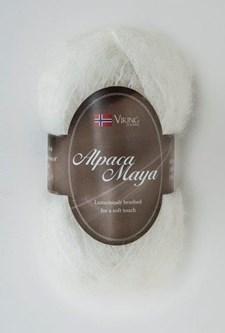 Viking of Norway Alpaca Maya 50 gr valkoinen