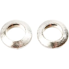 Metallpärla Cirkel 20x20x6 mm Borstat Silver 3 st