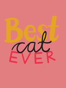 Best Cat Ever Poster 30x40 cm