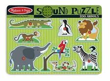 Puslespill med lyd, Zoo, Melissa & Doug