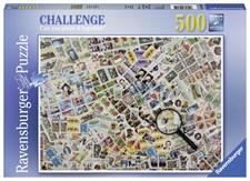 Stamps Challenge, Pussel 500 bitar, Ravensburger