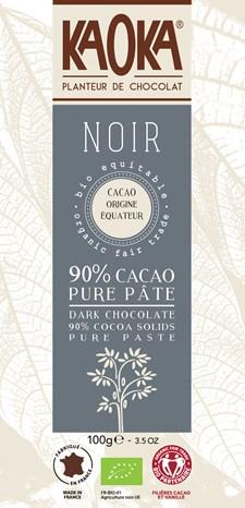KAOKA Choklad Mörk 90% 100 g Ecuador