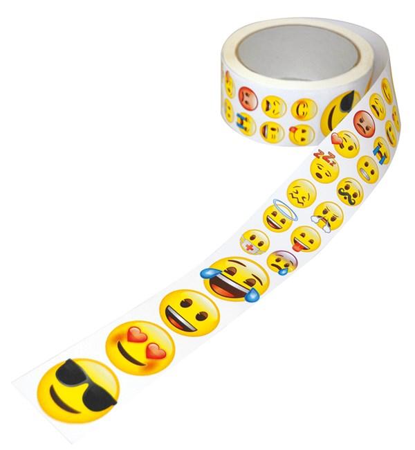 Klistremerker på rull, Emoji, Playbox