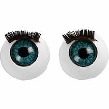 Isot silmät, koko 12 mm, 6 kpl