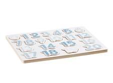 Puslespill med tall, Blå, Kids Concept