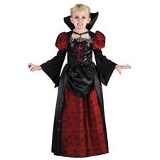 Vampyrtjej Barn Maskeraddräkt (122-134)