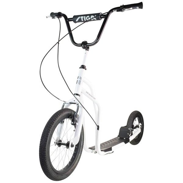 "Sparkesykkel, Air Scooter 16"", Hvit, Stiga"