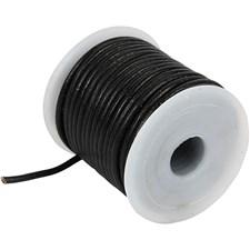 Nahkanauha, 2 mm, 10 m, musta