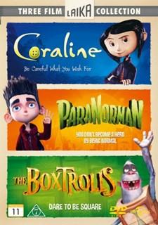 Laika Collection: Coraline / Paranorman /Boxtrolls (3-disc)