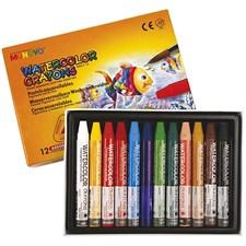 Akvarellkritor 9 mm 12 Färger
