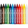 Colortime fargekritt, tykkelse 11 mm, L: 10 cm, ass. Farger, 12stk.