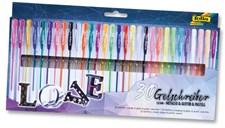 "Blackstyle, ""metallic/pastell/glitter"", 30 gel-pens, asstd. Colours"