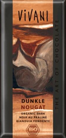 Vivani Mörk Choklad Nougat 100 g Ekologisk