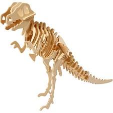 3D Puzzle, dinosaur, str. 33x8x23 cm, kryssfiner, 1stk.