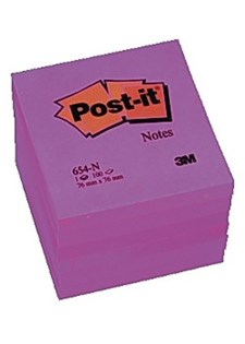 Notater POST-IT neon 76x76 mm rosa