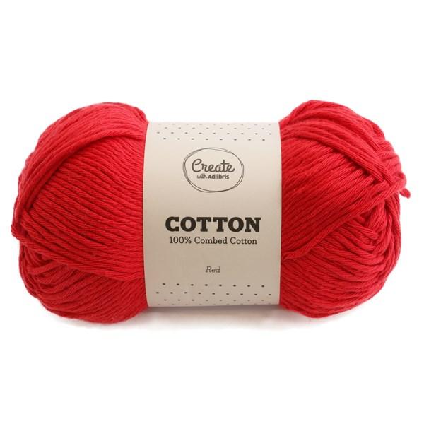 Adlibris Cotton 8/9 lanka 100g Red A080