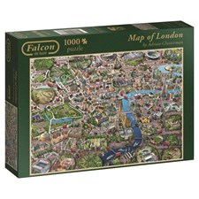 Map of London, Puslespill, 1000 brikker
