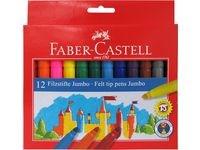 Faber-Castell Fibertusjer Jumbo 12 pakning