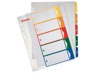 Plastregister Prosjektindeks A4+ 1-5