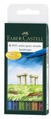 Soft Brush Pen Pitt Artist Faber-Castell 6-pack Naturfärger