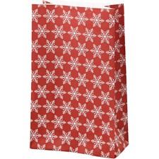 Paperipussit, kork. 21 cm, koko 6x12 cm, , jääkristalli, 10kpl, 80 g