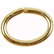 Metallringar Ovala 1 mm Guldpläterad 40 st