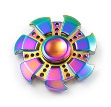 Fidget Spinner, Rainbow Zinc Alloy Blade