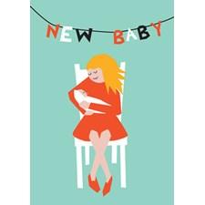 Gratulasjonskort Paperfolk/New Baby-bunting