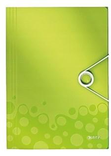 Läppäkansio 3-läppäinen Leitz WOW A4 PP vihreä