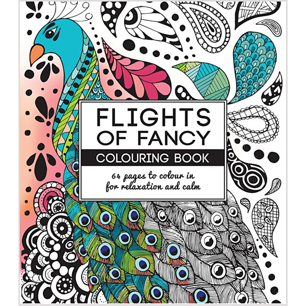 Antistress målarbok  stl. 19 5x23 cm   64 sidor  Flights of Fancy  1st.
