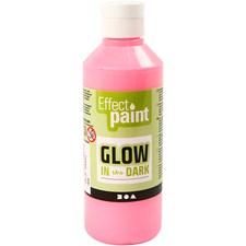 Färg Självlysande 250 ml Ljusröd