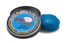 Neon Turquoise Blue, 50 g, Slimy Super Brain Putty