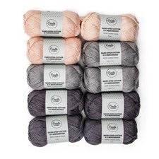 Adlibris Cotton 8/4 Hand-dyed Mercerized 50 gram Greige 10-pack