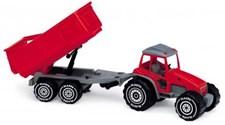 Traktor (rød) med tilhenger, Plasto