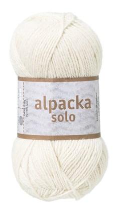 Järbo Alpacka Solo Garn Alpacka 50g Naturvit (29101)