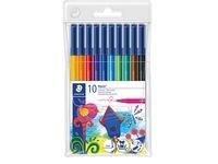 Fiberpenn STAEDTLER 10 farger
