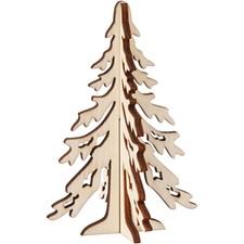 Kuusipuu, kork. 12,5 cm, lev. 8,5 cm, vaneri, 1kpl