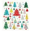 Klistermärken Glitter Julgranar 1 Ark