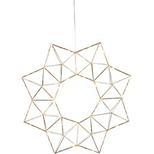Star Trading LED-Krans Edge 40x6x40 cm Mässing