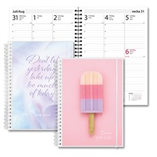 Kalender 19-20 Study A5 2i1 Glass Text
