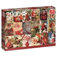 Puslespill, Vintage Santas, 2000 brikker