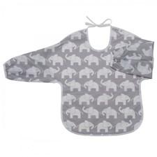 Haklapp med ärm/förkläde Elefant, grå, Rätt Start