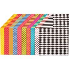Mønstrete kartong, A4 210x297 mm, 250 g, 20 ass. ark, ass. Farger