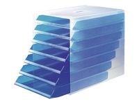Blankettboks Idealbox blå transparent