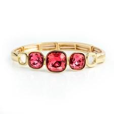 Glam Armband Armband, Fuchsia gold
