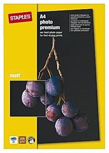 Fotopapir STAPLES Prem+ A4 matt (25)