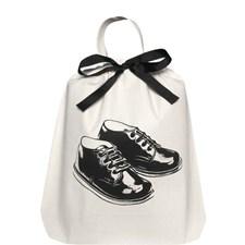 Bag-all Boy Shoe Kenkä Laukku 100% Puuvilla 33x31x6 cm Musta/Valkoinen